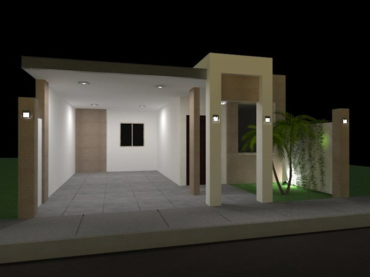 Cochera Casa Habitacion 1 nivel: Garajes de estilo  por VIBO CONSTRUCTORA