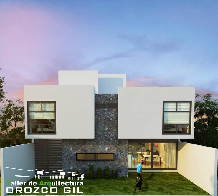 CASA CADENA: Casas de estilo  por OROZCO GIL TALLER DE ARQUITECTURA, Minimalista