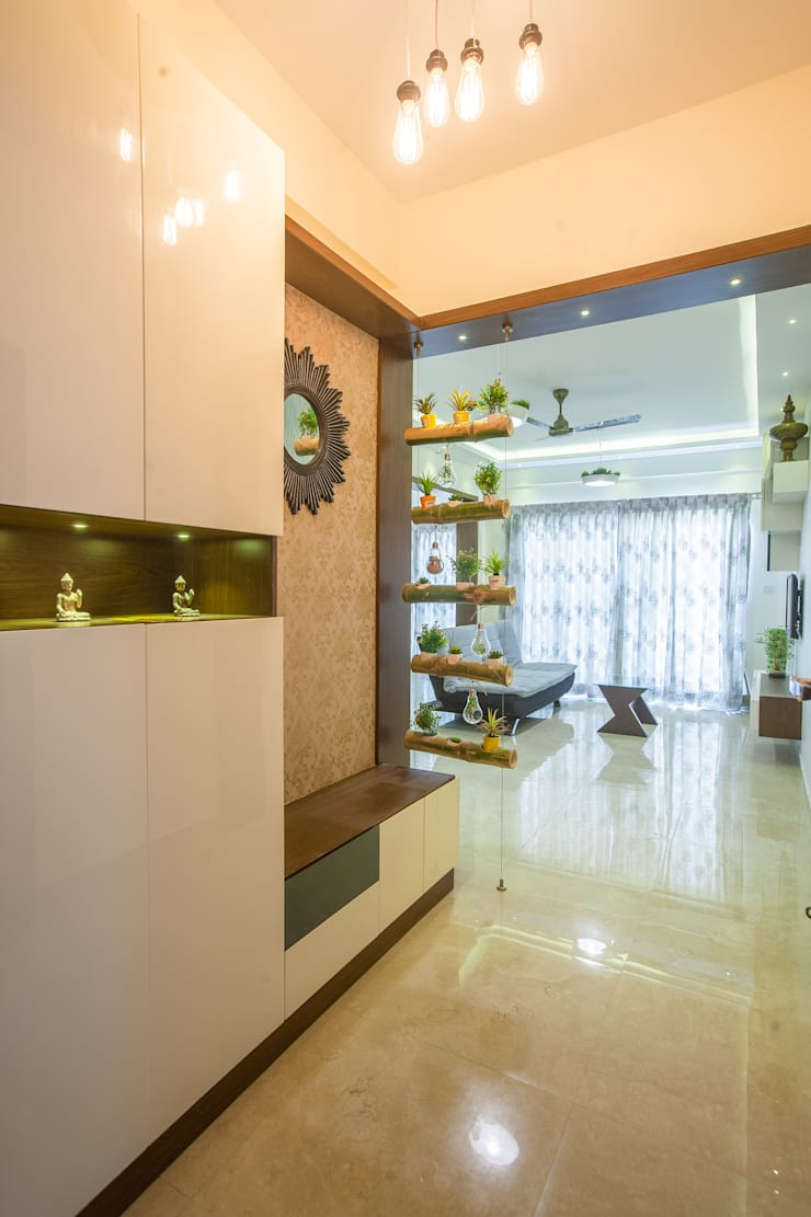 Studio Apartement :  Media room by In Built Concepts,Classic Bamboo Green