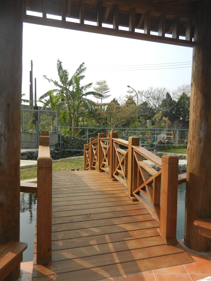 拱橋及欄杆:  庭院 by 山田小草木作場