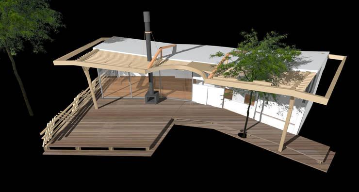 vlinderwoning:  Huizen door hans moor architect, Modern
