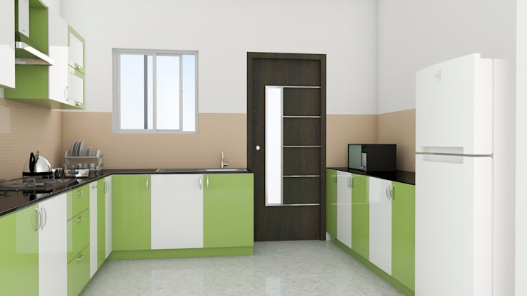 Modular Kitchen without Loft:  Kitchen by ServiceBELL Solutions PVT Ltd
