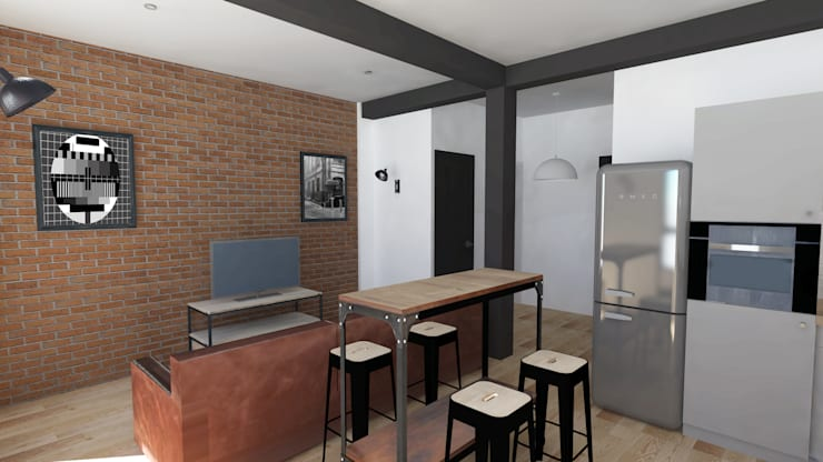 de estilo  por Emilie Granato Architecture d'intérieur