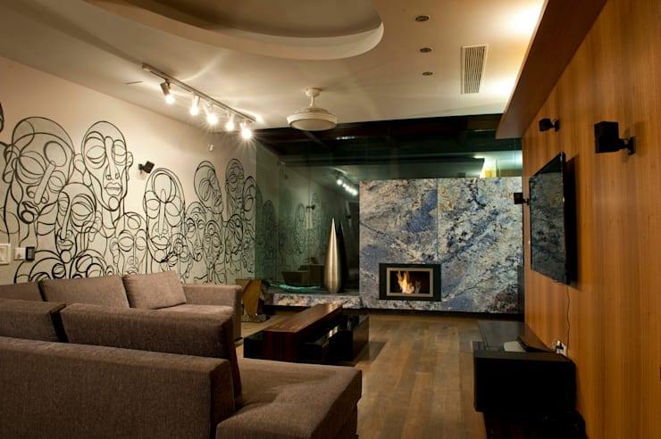 Verma Residence : modern Living room by Untitled Design