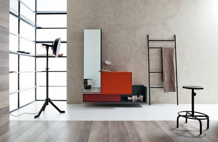 Composizione bagno moderna sospesa Novello Libera3D: Bagno in stile  di Viadurini