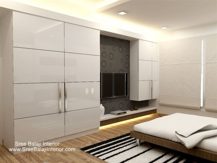 SBI HNI Branch:  Bedroom by Inner Value Architects