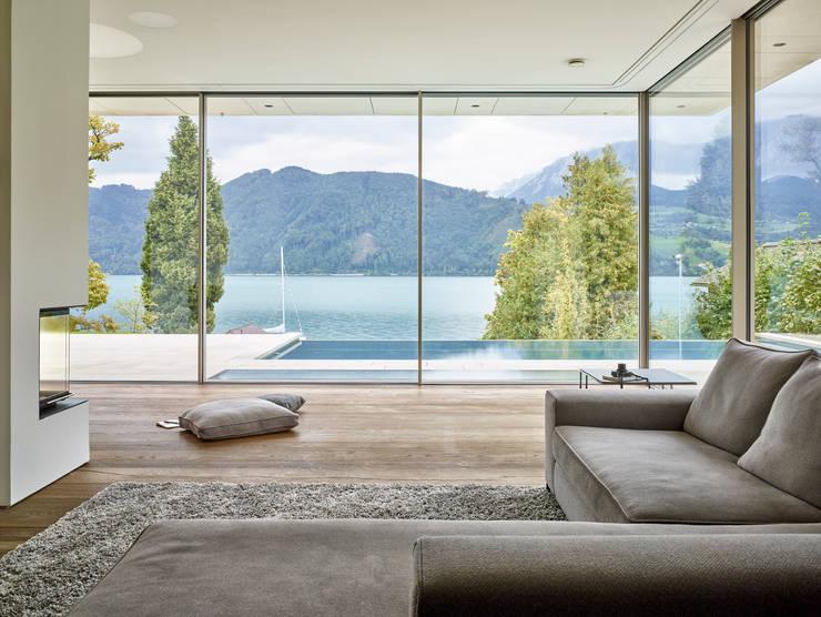 Living room by Backraum Architektur