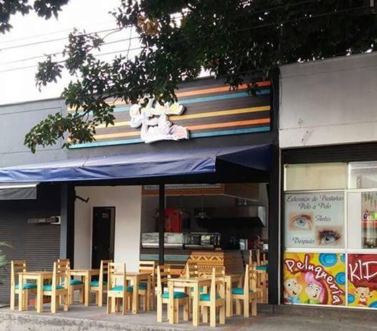 diseño restaurante: Oficinas y tiendas de estilo  por Dies diseño de espacios