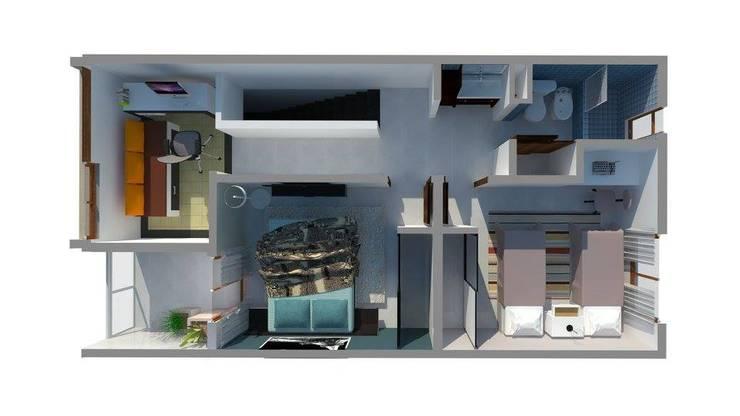 Planta Alta: Dormitorios de estilo  por Estudio ACC,
