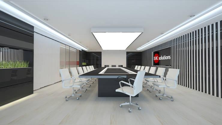 meeting room: Oficinas y Tiendas de estilo  por Dies diseño de espacios,