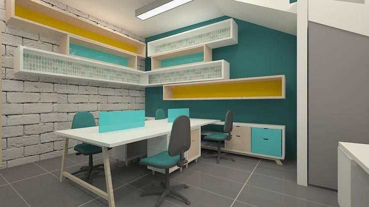 Oficinas: Oficinas y Tiendas de estilo  por Dies diseño de espacios