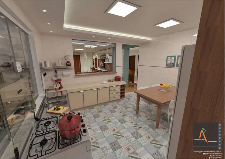 : Cocinas de estilo moderno por Ao Cubo Arquitetura e Interiores