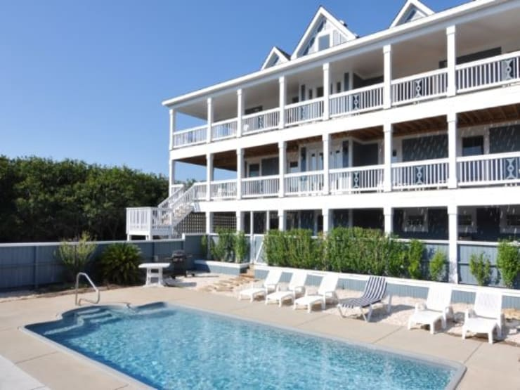 Private in ground pool:  Houses by Outer Banks Renovation & Construction