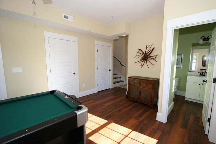 Media room by Outer Banks Renovation & Construction