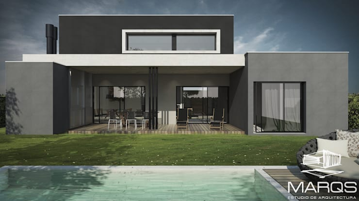 CONTRAFACHADA: Casas de estilo  por Estudio MaRqS,