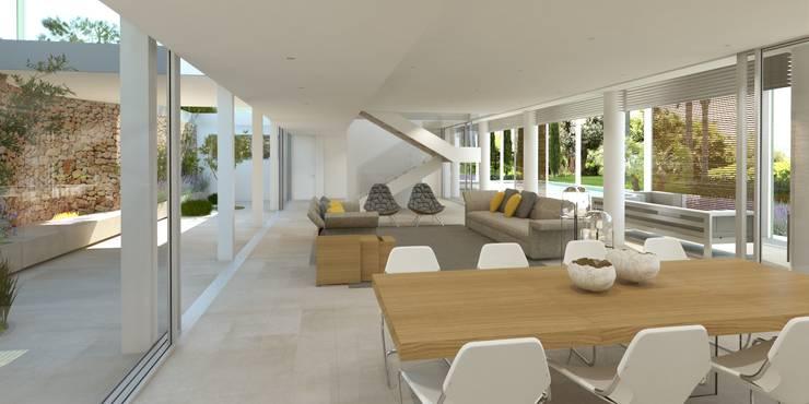 Refurbishment and extention of a single family house in Calvia:   by Tono Vila Architecture & Design