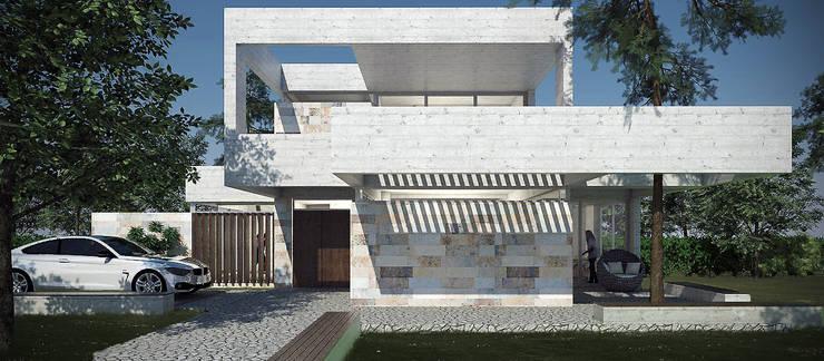 Casas de estilo  por Estudio MaRqS, Moderno Concreto