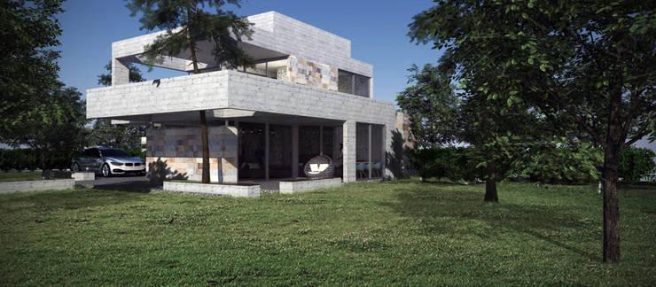 บ้านและที่อยู่อาศัย โดย Estudio MaRqS, โมเดิร์น คอนกรีต
