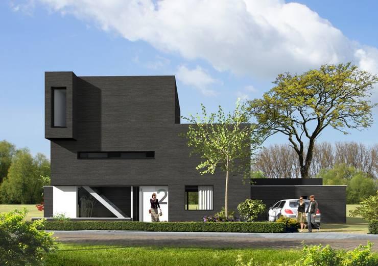 woning lent: modern  door loko architecten, Modern