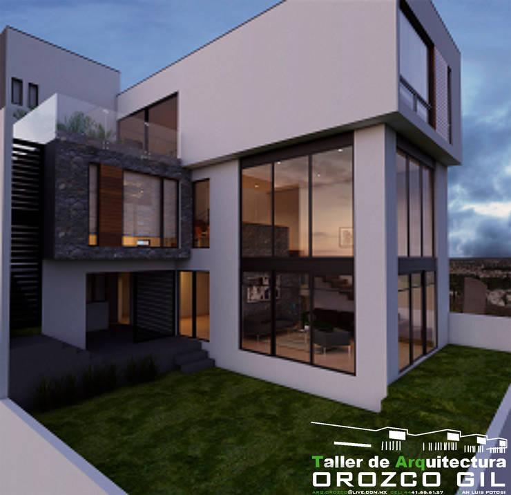 CASA MONTERRA 1: Casas de estilo  por OROZCO GIL TALLER DE ARQUITECTURA, Minimalista