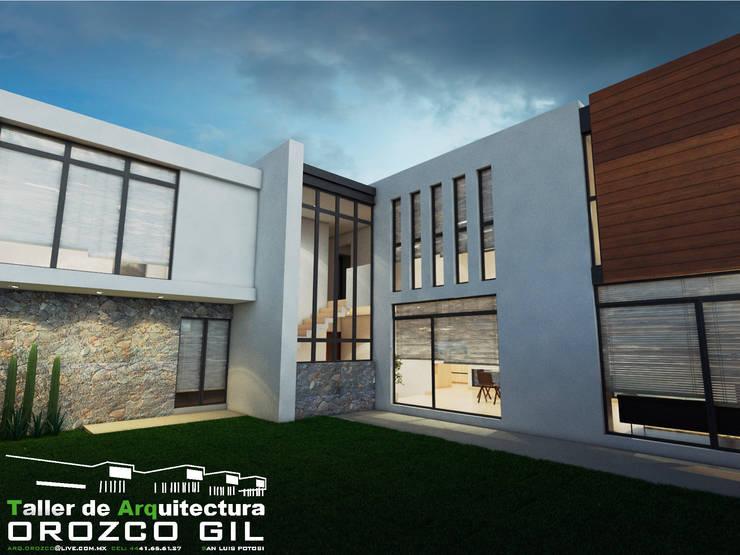 CASA SIERRAZUL RT: Casas de estilo  por OROZCO GIL TALLER DE ARQUITECTURA, Minimalista