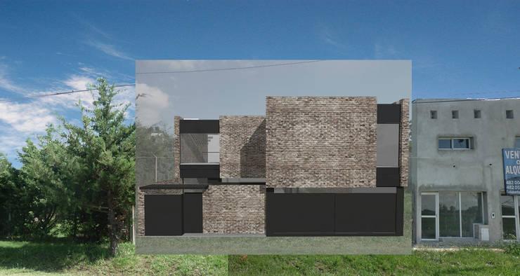 Fachada de la vivienda: Casas de estilo  por Proyectarq