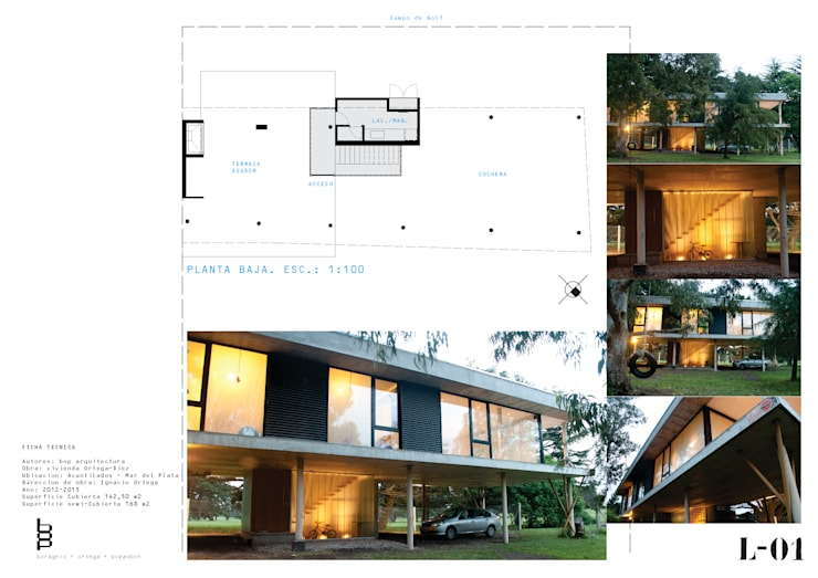 Casa sobre columnas-PB: Casas de estilo  por bop arquitectura,