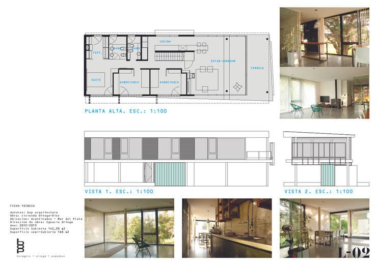 casa sobre columnas -PA: Casas de estilo  por bop arquitectura,