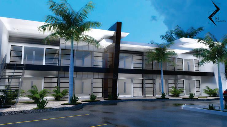 LOCALES COMERCIALES:  de estilo  por RJ Arquitectos, Moderno