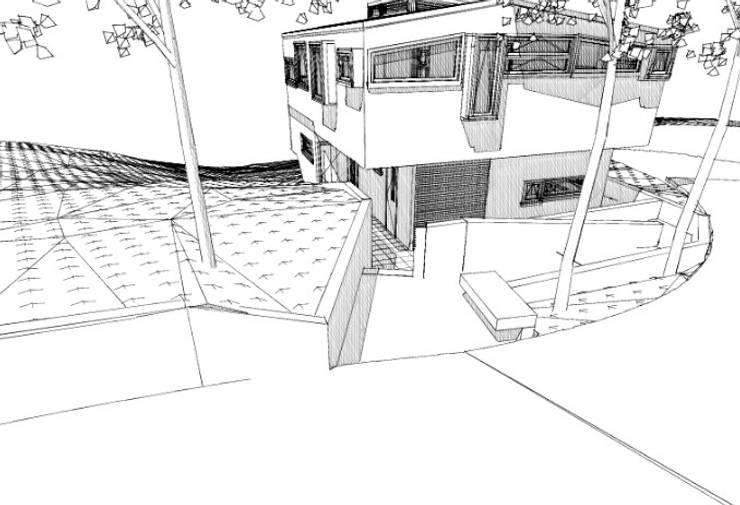 Bocetos: Casas de estilo  por Cordova Arquitectura y Construcción .
