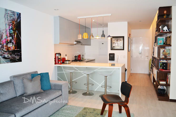 Departamento Barranco: Cocinas de estilo moderno por DMS Arquitectas