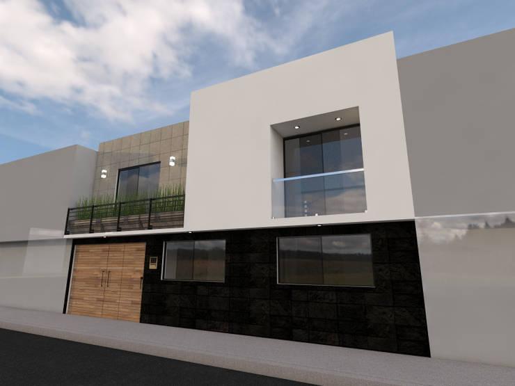 Fachada: Casas de estilo  por Arqternativa, Moderno Piedra