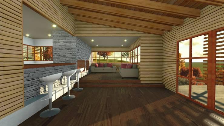 Casa en la Colina : Livings de estilo  por CA|Arquitectura