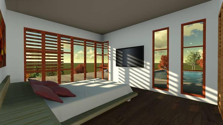 Casa en la Colina : Dormitorios de estilo  por CA|Arquitectura