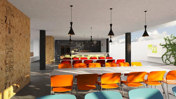 SITY: Restaurantes de estilo  por Bloque Arquitectónico
