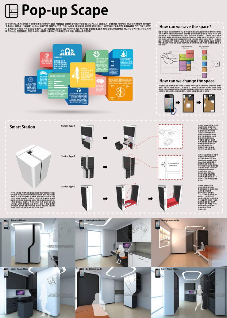 Living room by Plan-B 건축 사무소