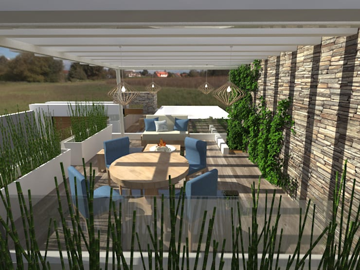 Terraza Superior: Terrazas de estilo  por Arqternativa