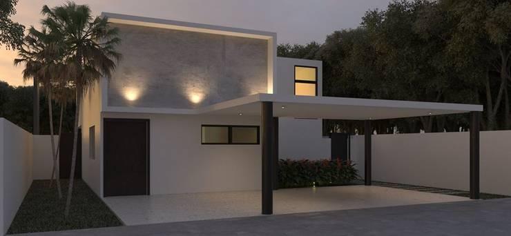 CASA CBR: Casas de estilo  por Ar.Co