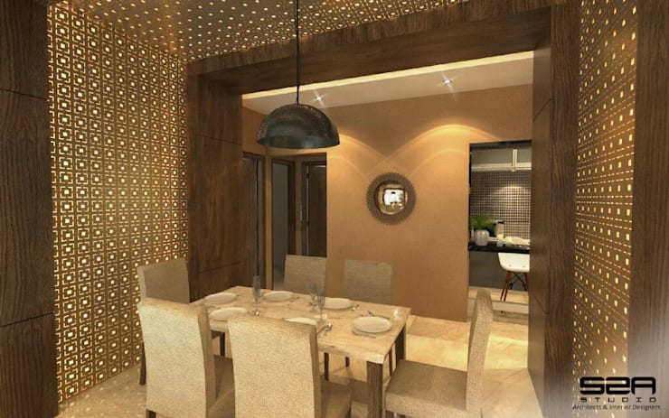 Residential Apartment :  Dining room by S2A studio