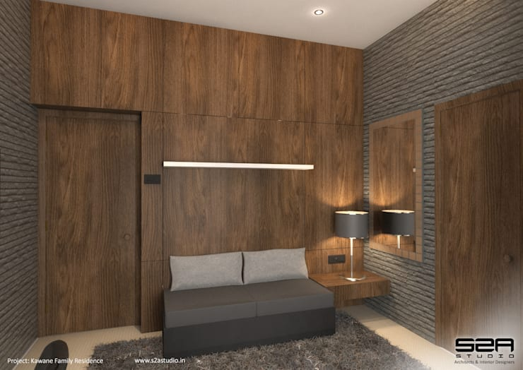 Residential Apartment :  Bedroom by S2A studio