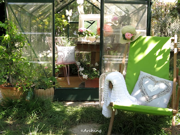 Jardines de invierno de estilo rural por Arching - Architettura d'interni & home staging