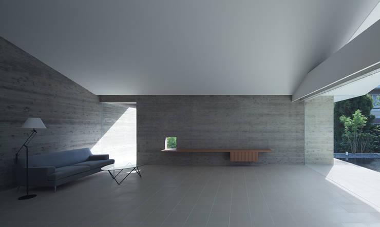 小笹の家: 森裕建築設計事務所 / Mori Architect Officeが手掛けたリビングです。