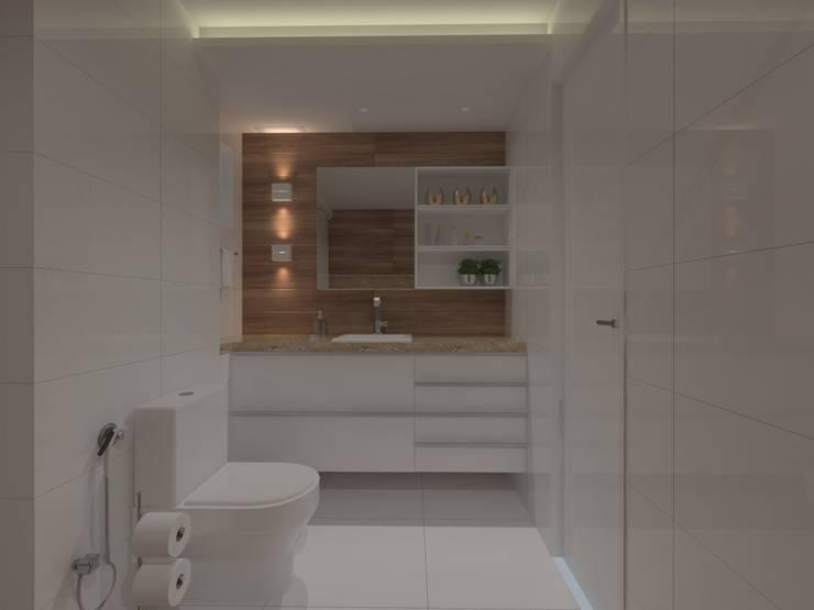 modern Bathroom by Larissa Vinagre Arquitetos