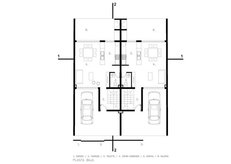 PROYECTO DUPLEX CLAROS DEL BOSQUE: Casas de estilo  por FANESI & NAVARRO