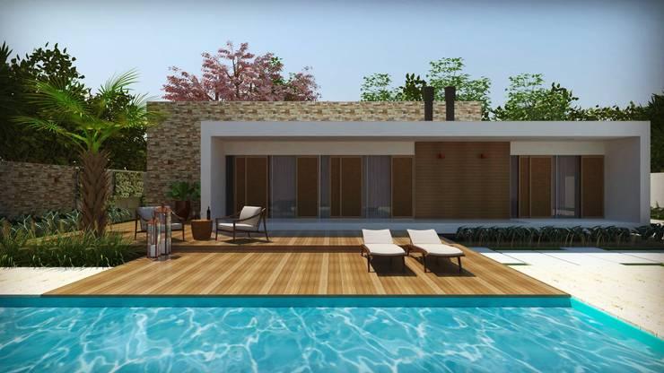 Casas de estilo  por Cíntia Schirmer | Estúdio de Arquitetura e Urbanismo