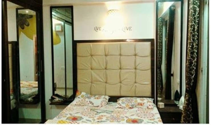 3 BHK RESIDENTIAL PROJECT @2014: classic Bedroom by SHARADA INTERIORS