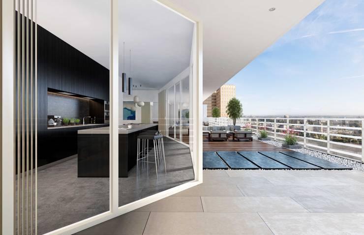 INTERMEZZO APARTMENTS: Cocinas de estilo  por Lucy Attwood Interior Design + Architecture