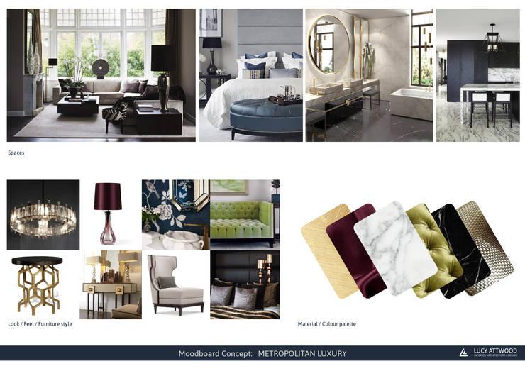 INTERMEZZO APARTMENTS: Hogar de estilo  por Lucy Attwood Interior Design + Architecture