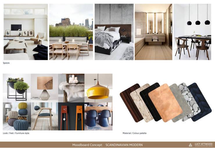 INTERMEZZO APARTMENTS: Livings de estilo  por Lucy Attwood Interior Design + Architecture