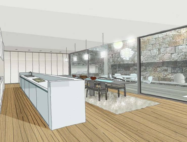 LODGE HOUSE:  de estilo  por Lucy Attwood Interior Design + Architecture,